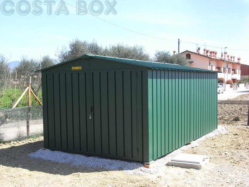 Box in lamiera a due spioventi costabox for Box lamiera offerte